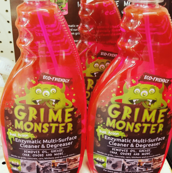 GrimeMonster remove grease from concrete
