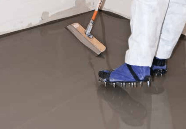 Self leveling concrete intermountain concrete specialties for Concrete floor leveling