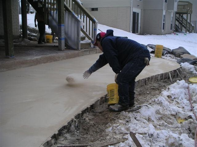 Concrete projects you can do this winter intermountain for Best weather to pour concrete
