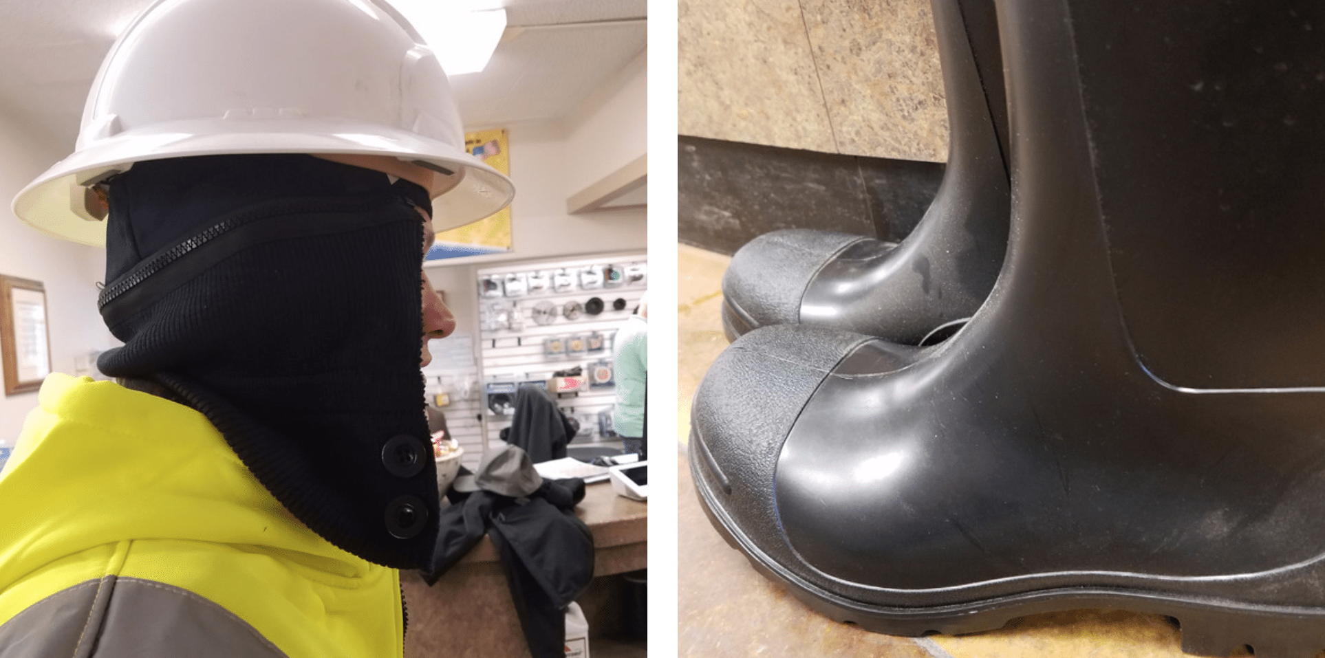 ICS hard hat liner and boots Cold Weather gear