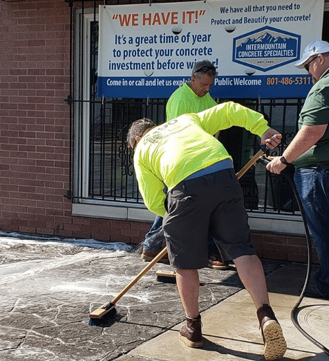 WR meadows concrete sealer demo
