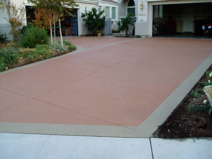 New Look Concrete Color Stain