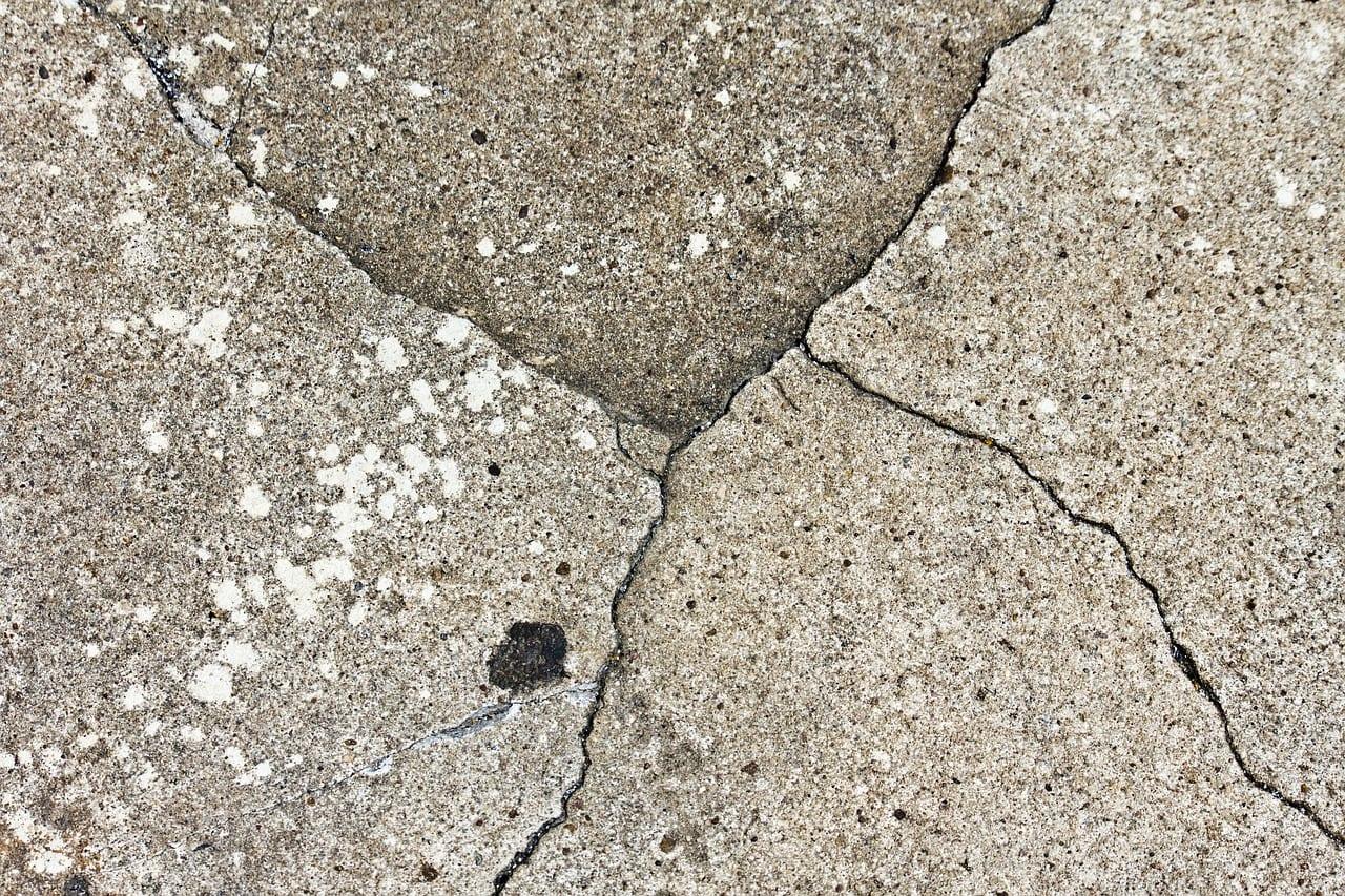 crumbling concrete driveway