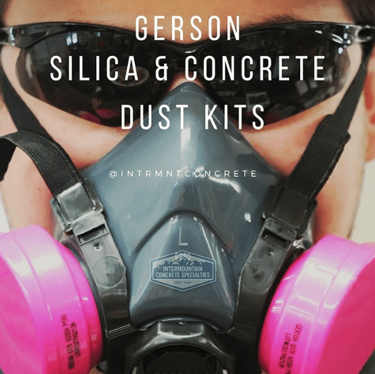 Gerson silica and concrete dust mask